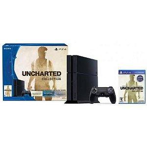 Console Playstation 4 500GB + Jogo Uncharted: Nathan Drake Collection – Bivolt - Preto