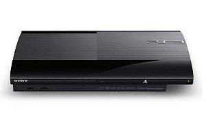 Console PS3 App 500GB Super Slim Mexicano + 76 Jogos Preto