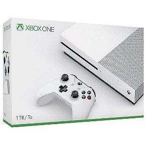 Console Xbox One S 1TB com 1 Jogo Aleatório Branco