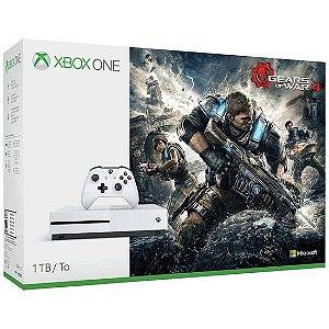 Console Xbox One s 1TB Bundle Gears Of War 4 – Bivolt - Branco