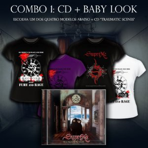 COMBO 1: 1 Baby Look + 1 CD Traumatic Scenes - SupreMa