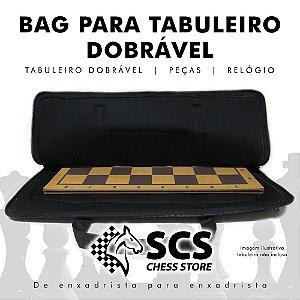 Bag Grande para tabuleiro dobrável, peças e relógio