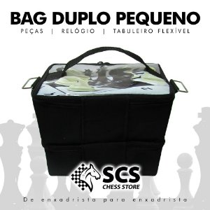 Bag Duplo Pequeno - 2 compartimentos com zíper
