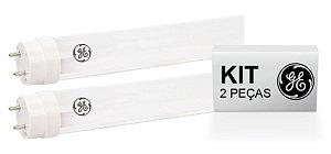 KIT 2 Lâmpadas Led Tubular T8 18W | 1200mm | 6.500K | Bivolt |Tube Glass