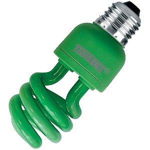 Lâmpada Fluor. Eletrônica Espiral 220V 26W Verde