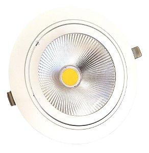 LUMINÁRIA LED DE EMBUTIR PRO - COB 35W 3000K (Branco Neutro) BIVOLT