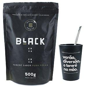 KIT COMPLETO TERERÉ + BOMBA CROMADA 19CM + BLACK ERVA 500G