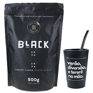 KIT COMPLETO TERERÉ + BOMBA EPOX PRETO 19CM + BLACK ERVA 500G