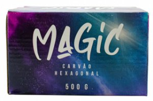 CARVÃO DE COCO HEXAGONAL MAGIC 500g