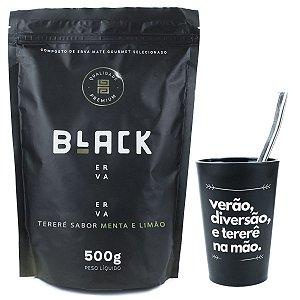 KIT COMPLETO COPO + BOMBA INOX 19CM+ BLACK ERVA 500G
