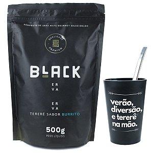 KIT COMPLETO COPO + BOMBA LISA INOX 19CM+ BLACK ERVA 500G