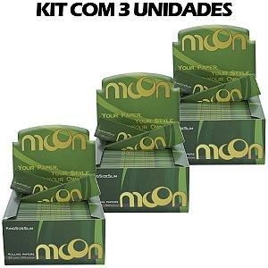 KIT 3 UNIDADES DE PAPEL DE SEDA MOON KING SIZE (CAIXA COM 50)