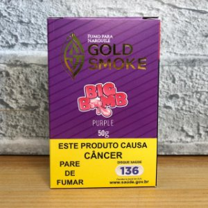 ESSÊNCIA GOLD SMOKE 50g BIG BOMB PURPLE (CHICLETE UVA)