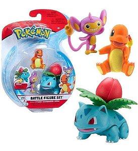 Pokémon 3 Figuras De Ação Sortidas Ivysaur Charmander