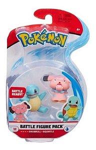 Pokemon Pack Com 2 Figuras - Snubbull + Squirtle