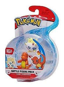 Pokemon Pack Com 2 Figuras - Togepi + Charmander