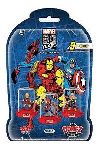 Mini Figura Colecionável Domez Surpresa Sortidas Marvel 80 Anos