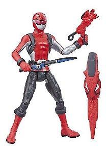 Figura Básica Power Rangers Beast Morphers Ranger Vermelho 15cm