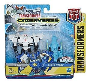Figura Transformers Spark Armor - Prowl e Cosmic Patrol