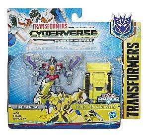 Figura Transformers Spark Armor - Starscream e Demolition Destroyer