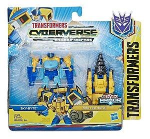 Figura Transformers Spark Armor - Sky Byte e Driller Drive