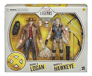 Figura Marvel Legends Series X-men Logan E Hawkeye