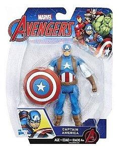 Boneco Articulado Marvel Avengers 15cm - Capitão América