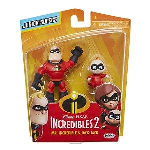 """Os Incríveis 2 - Minifiguras de 3"""" Sr Incrível e Zeze"""