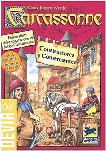 Jogo Carcassonne Expansão Comerciantes e Construtores