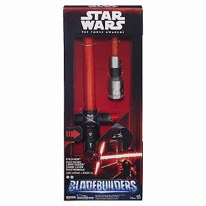 Star Wars Sabre De Luz Eletrônico Blade Builders Episódio VII - Kylo Ren