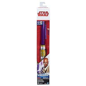 Hasbro Star Wars Sabre De Luz Eletrônico Episódio VIII - Mace Windu