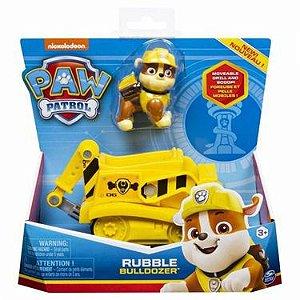 Patrulha Canina - Boneco com Veículo Rubble Diggin Bulldozer