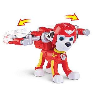 Patrulha Canina Resgate Aéreo - Boneco com Distintivo Marshall