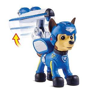 Patrulha Canina Resgate Aéreo - Boneco com Distintivo Chase