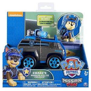 Patrulha Canina Missão Patinhas - Boneco Com Veículo Chase