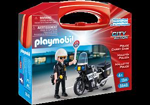 Playmobil 5648 - Maleta Policial com Moto