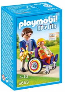 Playmobil 6663 - Criança na Cadeira de Rodas