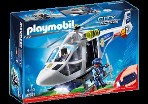 Playmobil 6921 - Helicóptero Da Polícia Com Luz
