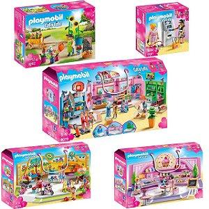 Playmobil Shopping Center (pack completo) 5 caixas
