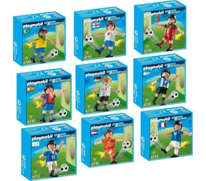 Playmobil Pack Com 9 Jogadores De Futebol