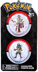 Pokémon Chaveiro - Mega Blaziken E Mega Lucario