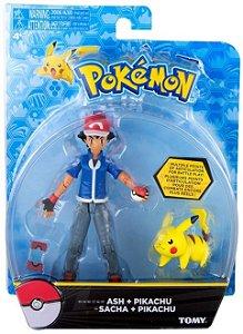 Pokémon Figuras de Ação - Ash e Pikachu