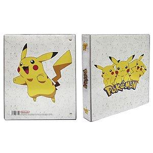Pasta Fichário Pokemon em PVC - Pikachu