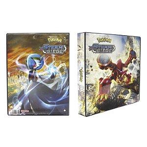 Pasta Fichário Pokemon - Steam Siege Volcanion e Mega Gardevoir