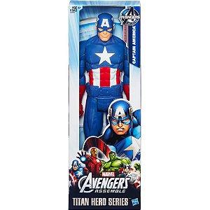 Boneco Titan Hero Avengers Capitao America 30 cm
