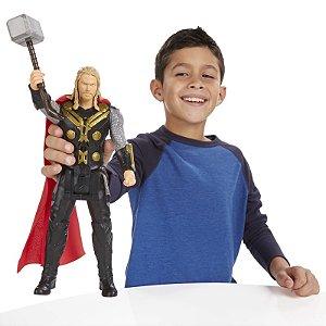 Boneco Titan Hero Tech Avengers Thor Eletrônico 30 cm