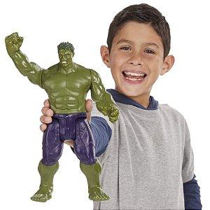Boneco Titan Hero Tech Avengers Hulk Eletrônico 30 cm