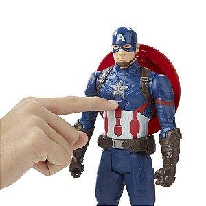 Boneco Titan Hero Tech Civil War Capitão America Eletrônico 30 cm