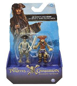 Piratas do Caribe Blister com 2 figuras sortidas - Jack Sparrow