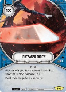 SW Destiny - Lightsaber Throw